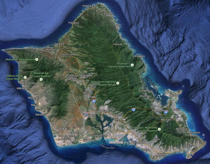 oahu-google-map-sat-view